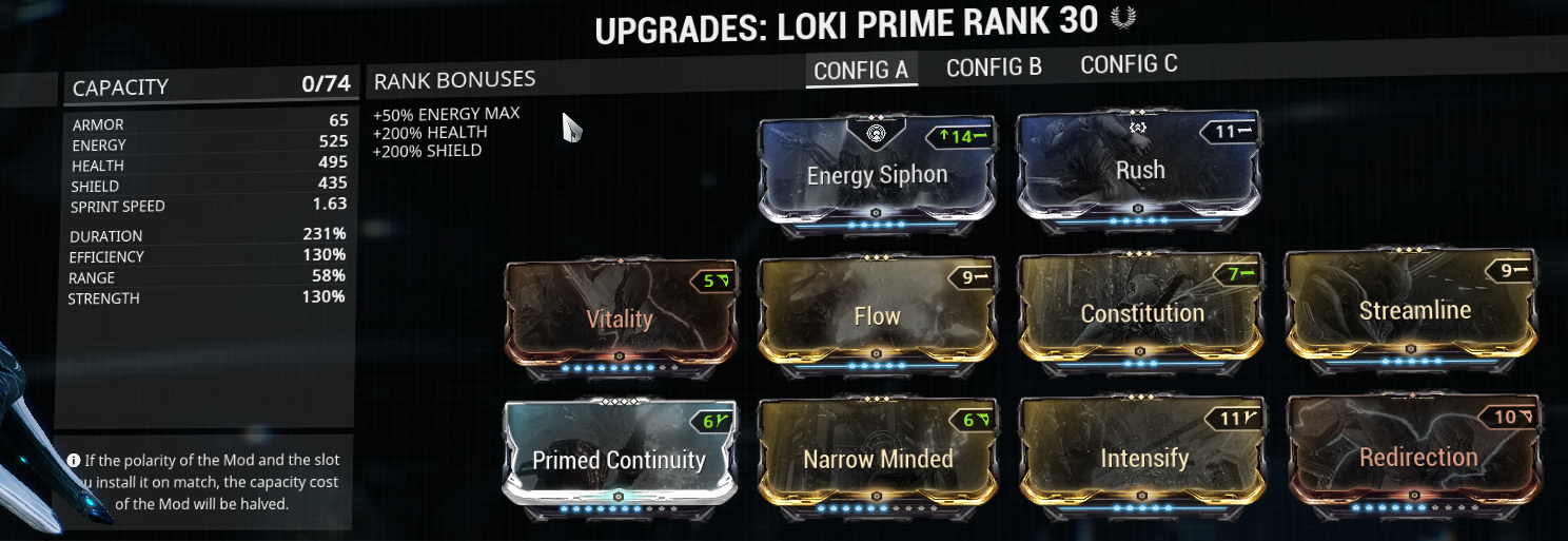 My Loki build for stealth duration