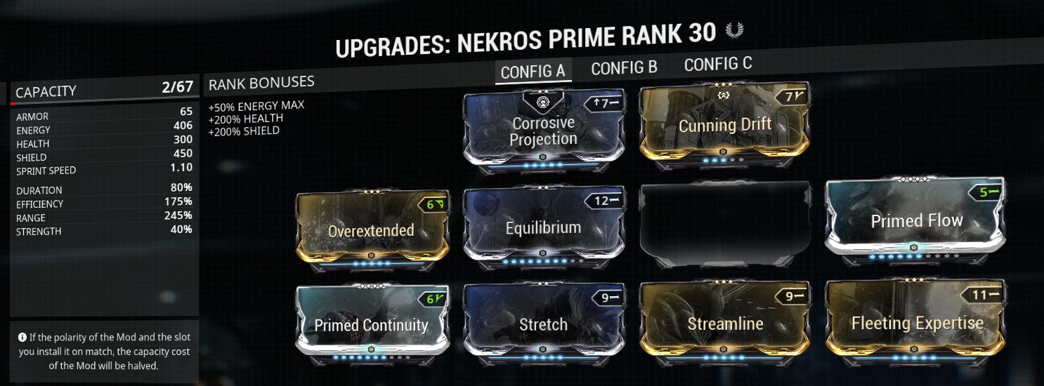 My Nekros energy desecrate build