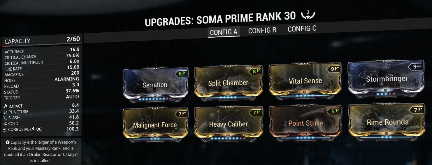 Soma Prime build and mod-setup