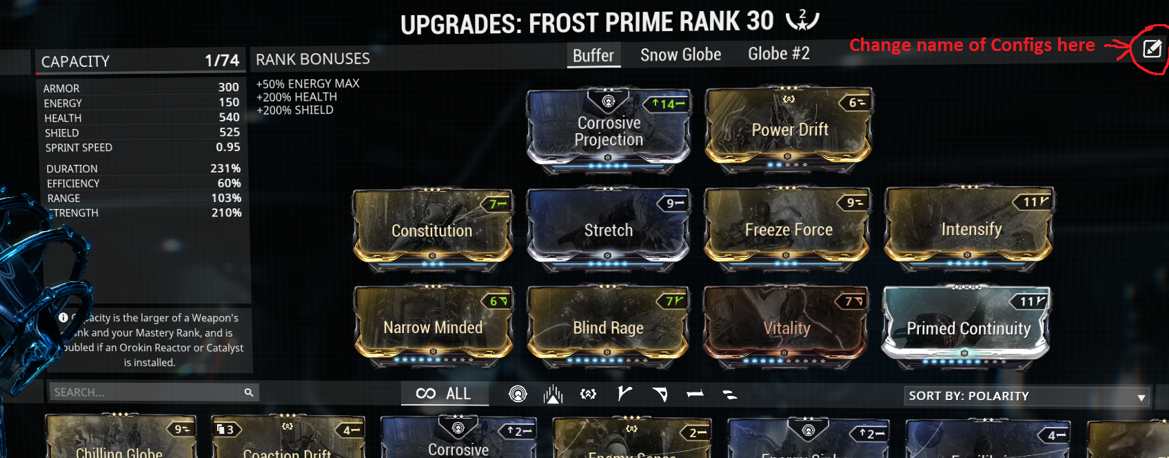 Frost config example