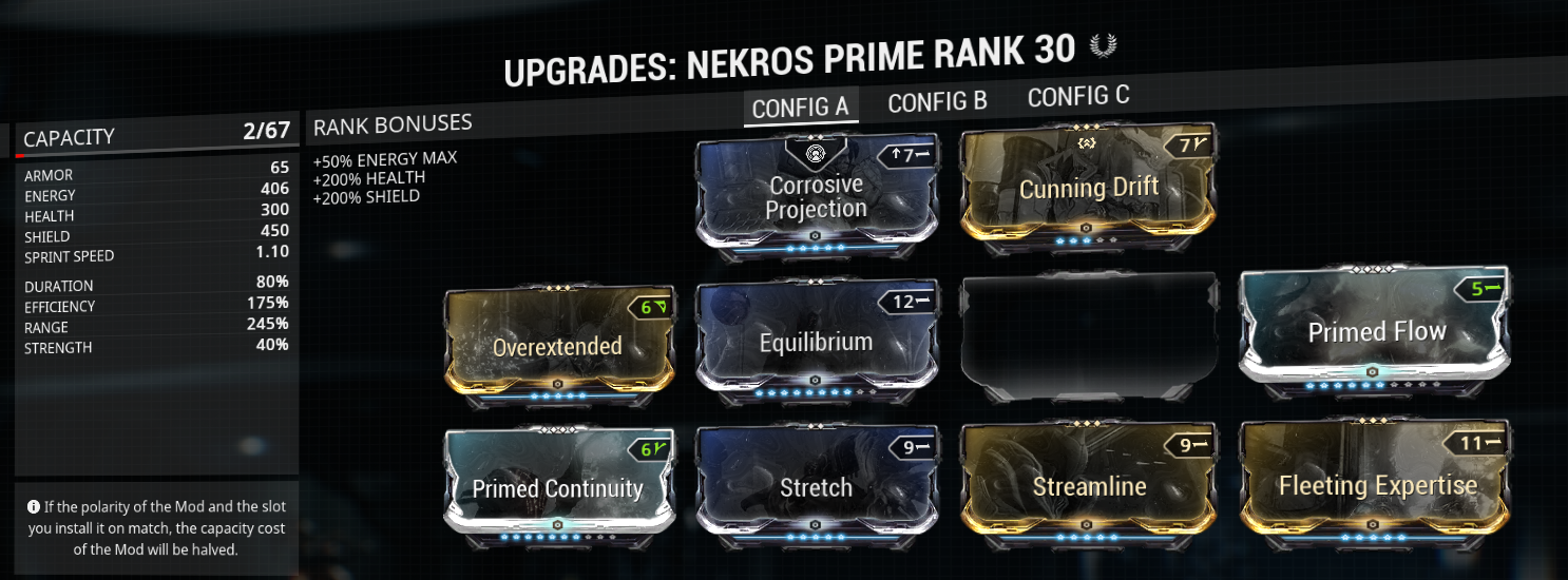 My Nekros energy desecrate build