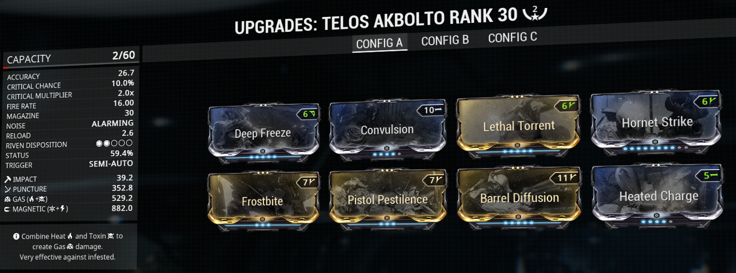Telos Akbolto build and mod-setup