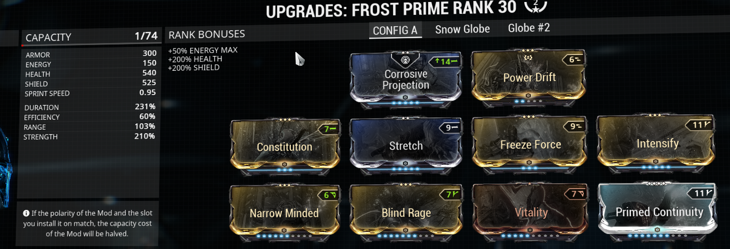 example of how Freeze Frost could look like as buffer build