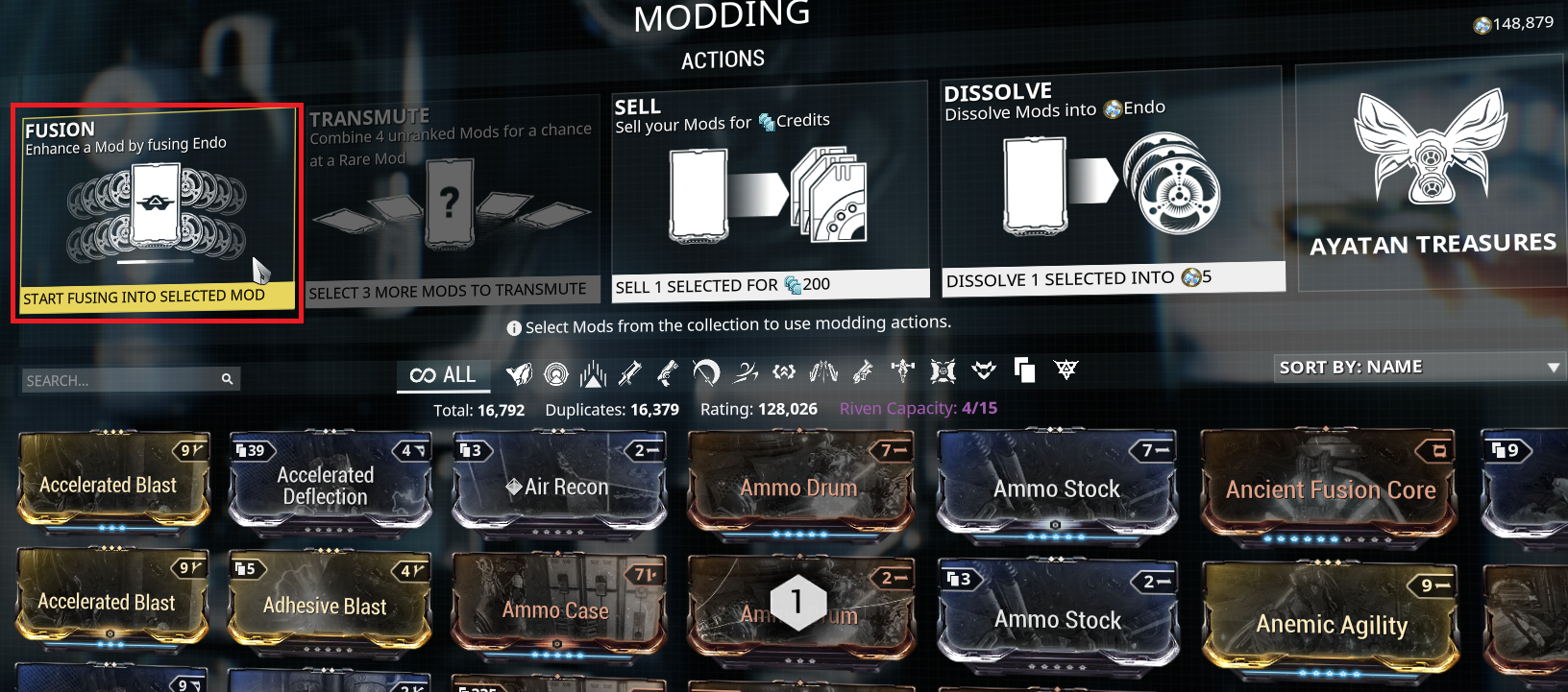 fusion in mod segment in landing craft