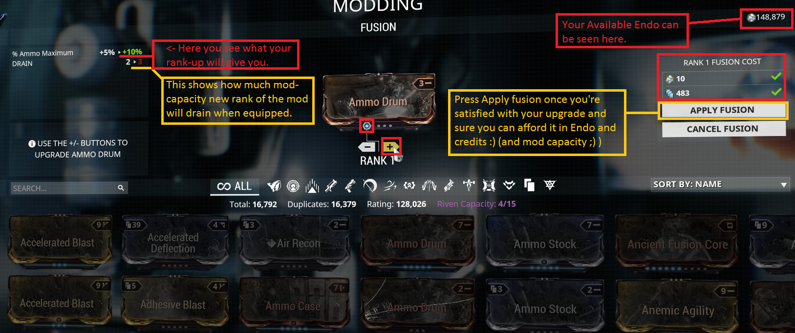 ranking up mods in mod segment