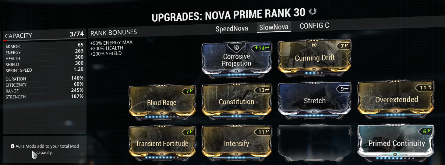 slow nova build example